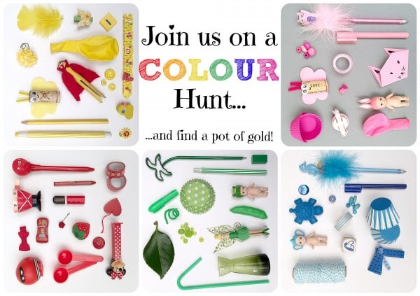 Join us on the Rainbow Colour Hunt you may just find the pot of GOLD