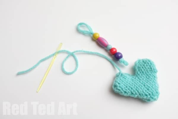 Knitted Heart Kery Ring