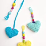 Knitted Heart Gifts (free pattern) – Garlands, Bookmarks and Key chains