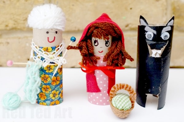 Toilet Paper Roll Little Red Riding Hood Craft