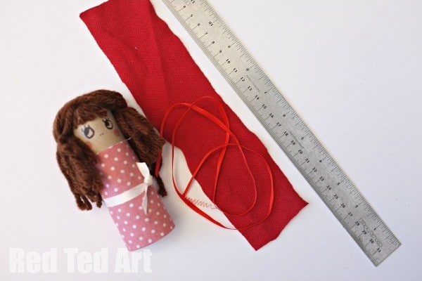 Little Red Riding Hood Craft - TP Rolls - how to make the cape
