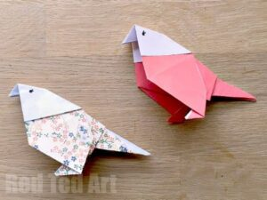 Origami Budgie How To - learn how to make these cute paper birds