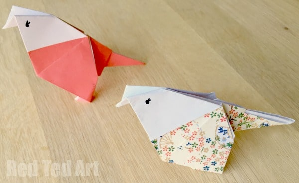 Origami Budgies - cute paper crafts for kids