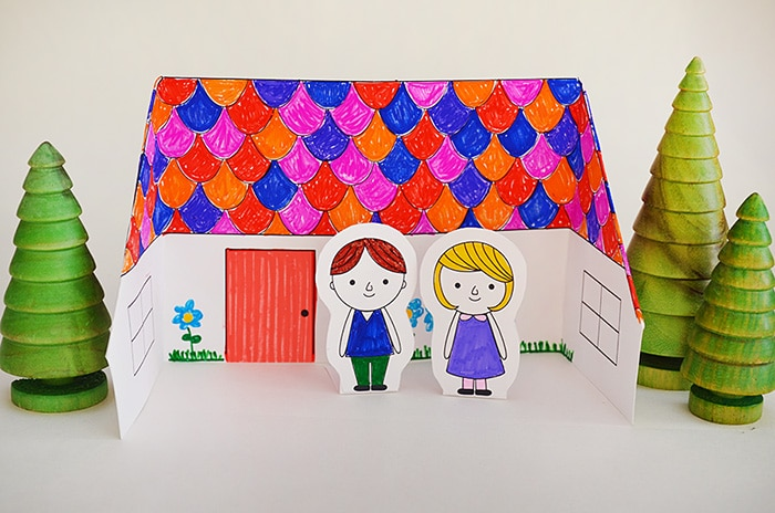 House Craft Ideas For Kids Part - 17: Origami Paper House