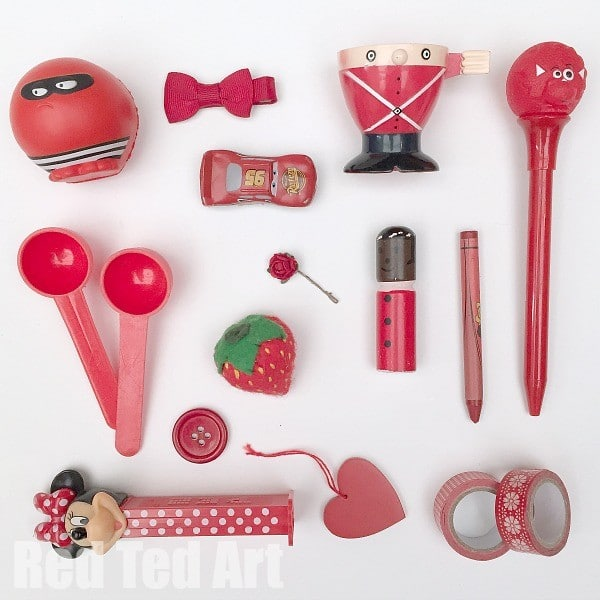 Red Colour Hunt Activity for Kids