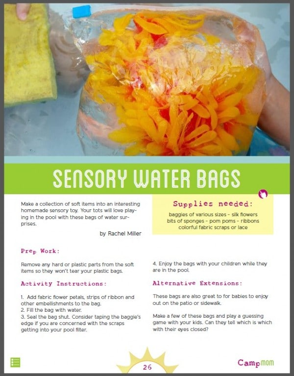 Sensory Water Bag Experience