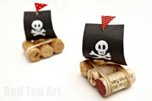 Simple Cork Boat Craft - quick and easy to make