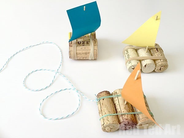 Simple Cork Boats for Kids
