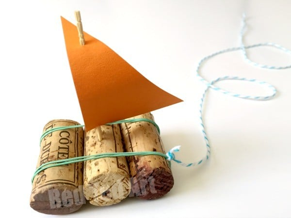 Upcycled Cork Crafts - Cork Boat
