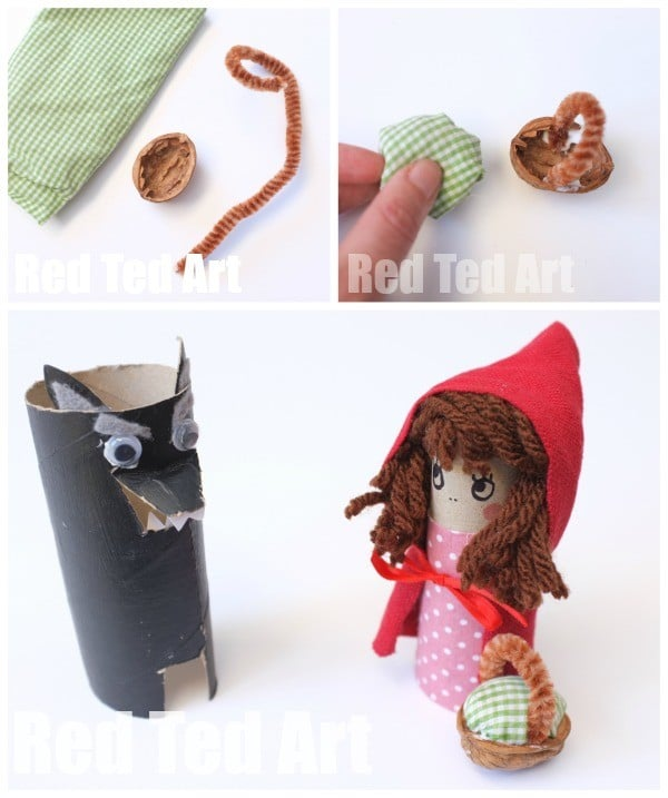 Walnut Basket Craft for Little Red Riding Hood