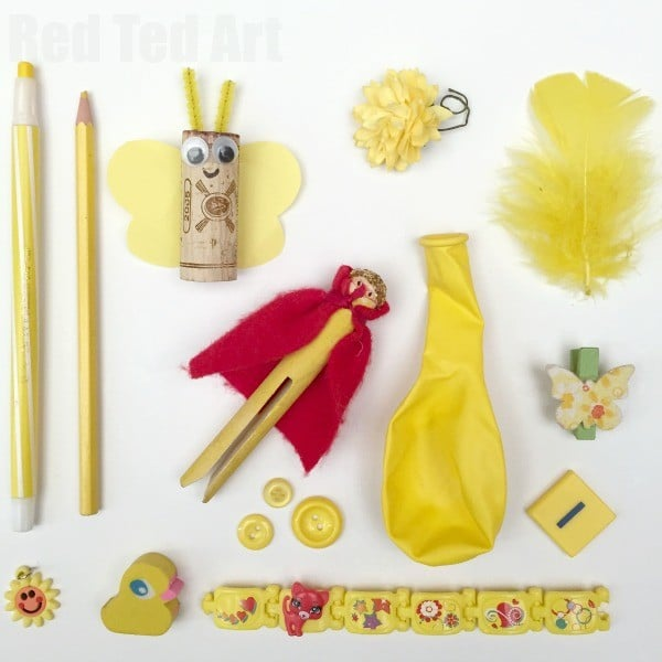 Yellow Colour Hunt Rainbow Activity for Kids