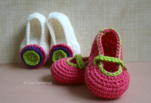Free Baby Booties Crochet Pattern - Red Ted Art\'s Blog