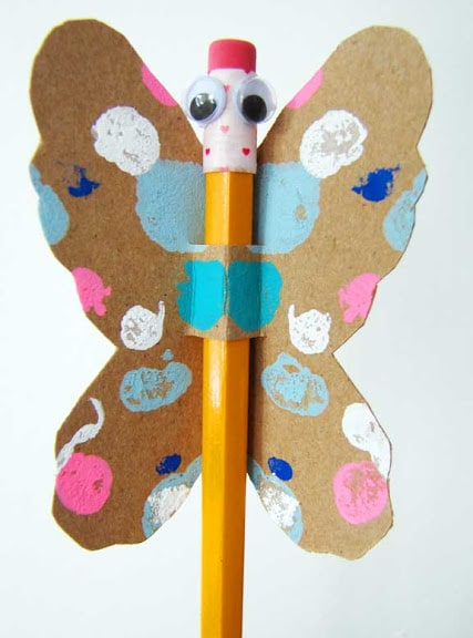 butterfly pencil gift