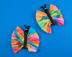 clothespin-butterfly. Butterfly Crafts for Preschoolers - great summer crafts for kindergarten and up.. love these adorable Butterfly Activities #butterflies #summer #preschoolers