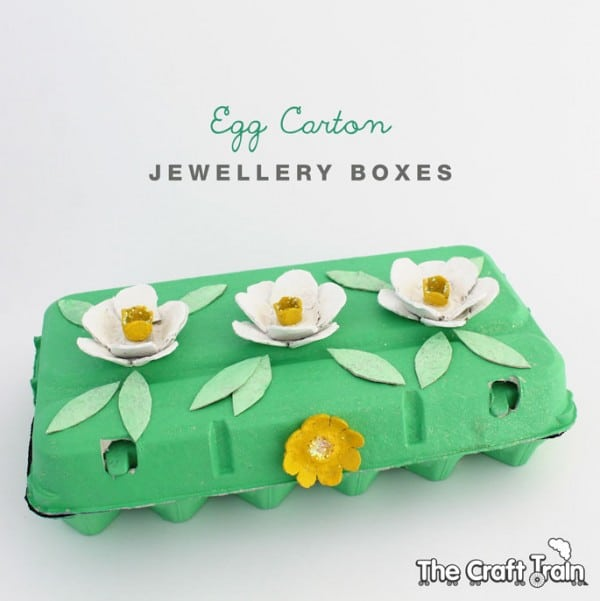 egg carton craft - jewelry box