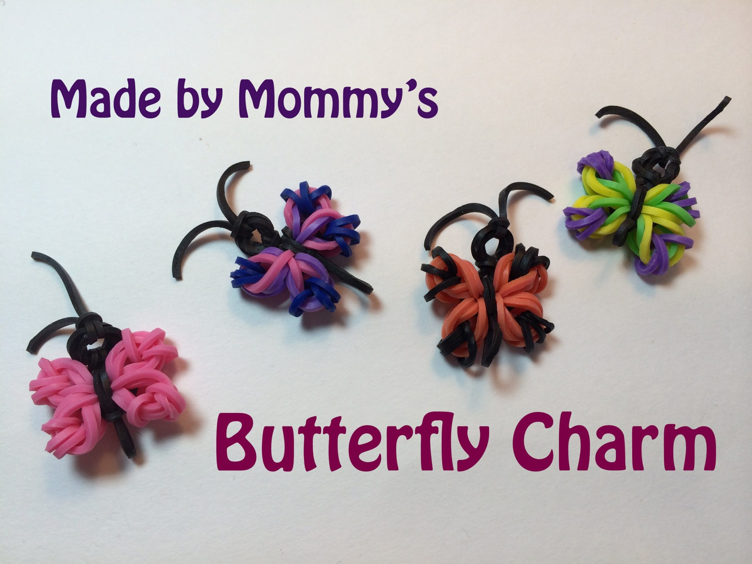 loom band butterfly charm - Red Ted Art's Blog - photo#31
