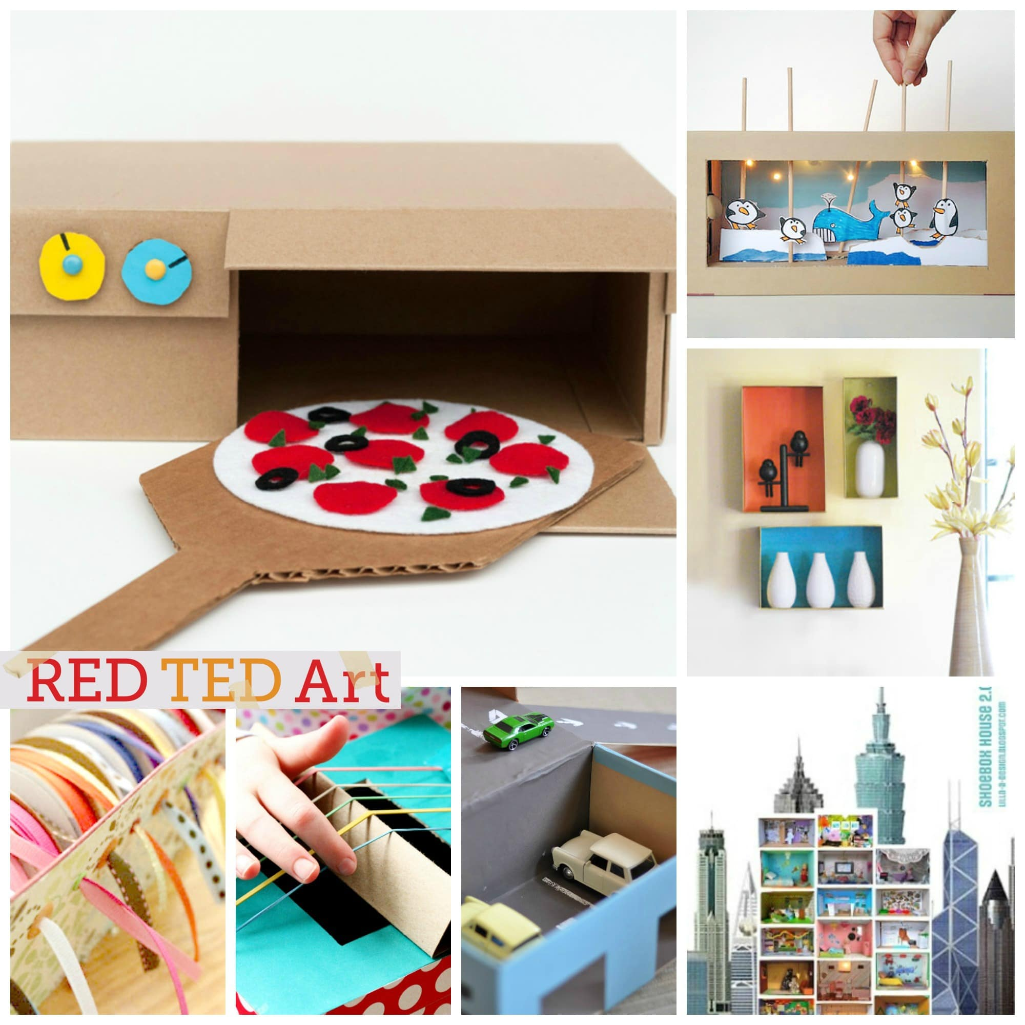 30 shoe box craft ideas red ted art 39 s blog for What to do with old mailbox