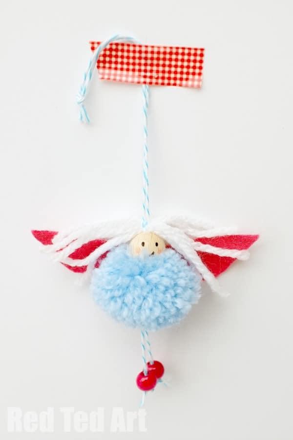 Adorable Pom Pom Fairy Craft
