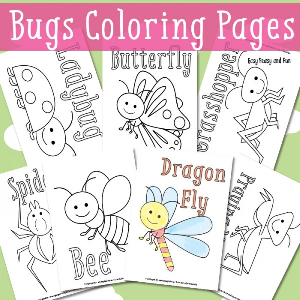 Free Butterfly Colouring Pages for Spring Summer Red