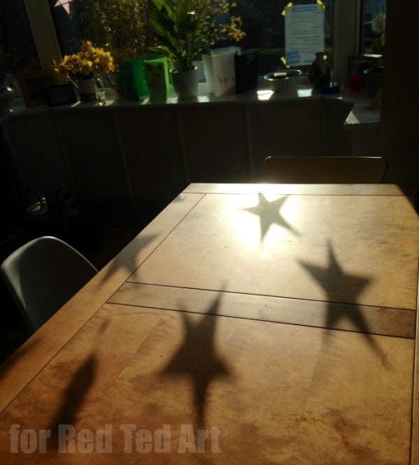 Craft Stick Star Shadow - by Red Ted Art reader Katie