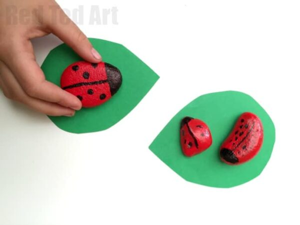Easy Ladybird Stones - cute crafts for kids