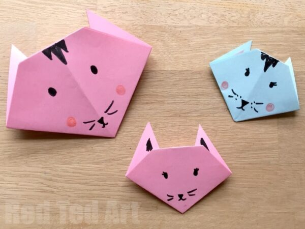 Easy Origami Cats Paper Crafts For Kids Red Ted Art