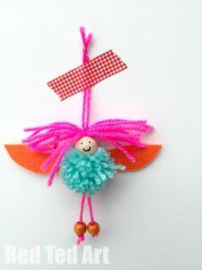 Pom Pom Fairies Ornaments