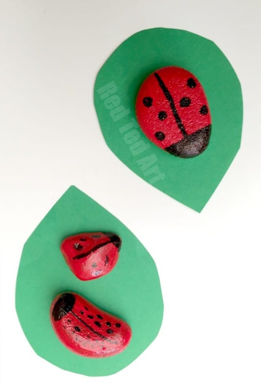 Stone Crafts for Kids - make these adorable little ladybird ladybugs - easy and fun to make