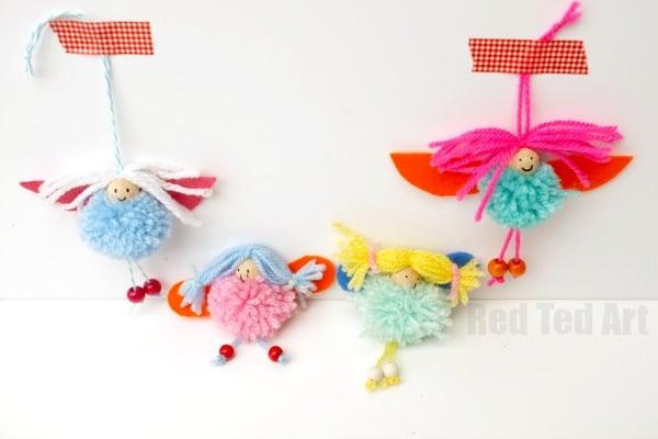 Super Cute Pom Pom Fairy Craft How To