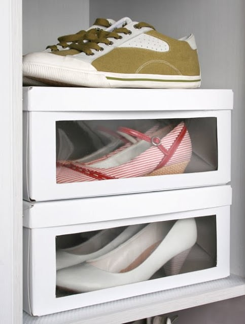 shoe box tidy ideas
