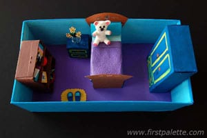 shoebox crafts - dolls house