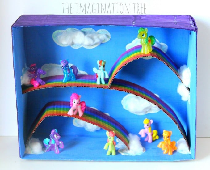 30 Shoe Box Craft Ideas: Shoebox My Little Pony Small World Play