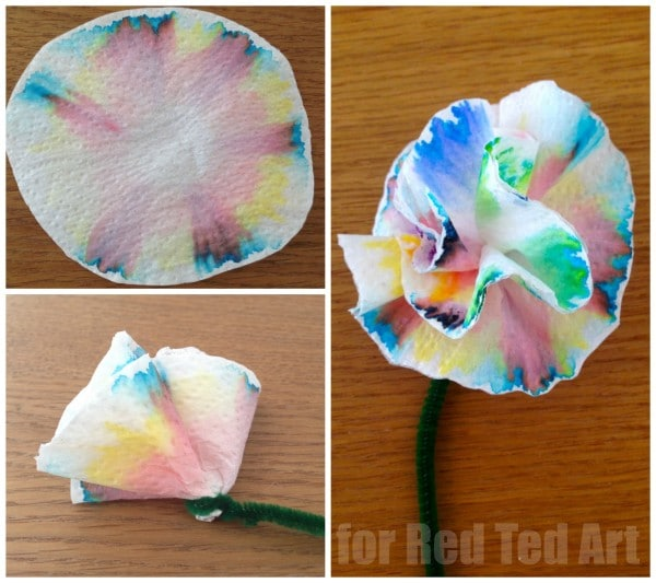 Coffee Filter Flowers & Science Experiment in One - Chromatography for Kids