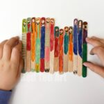 Easy Craft Stick Dollies (or Lollipop Dolls)