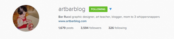 Follow artbarblog & redtedart on instragam for fabulous creative inspiration