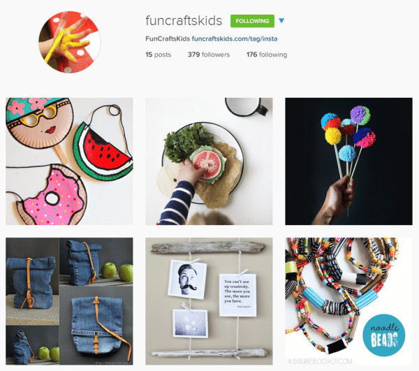 Follow funcraftskids and redtedart on instragam for fabulous creative inspiration