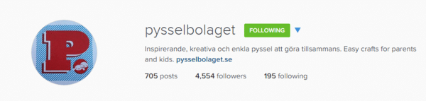 Follow pysselbolaget & redtedart on instragam for fabulous creative inspiration