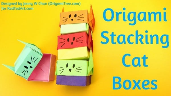 Origami Stacking Cat Boxes Thumbnail