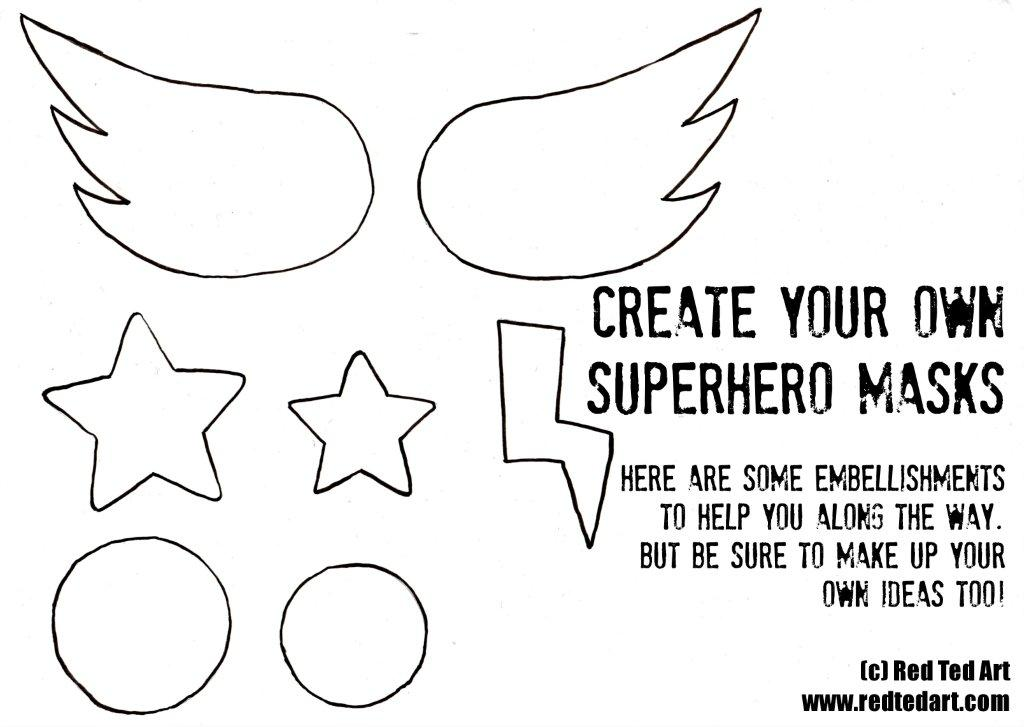 Superhero masks template party activity for Children s mask templates