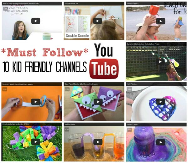 10 Kids Activities YouTube Channels that you simply must follow today. The combination of these channels provide you with Creativity, Science, Tinkering, Know How & Education - for all your Kids Activities need!