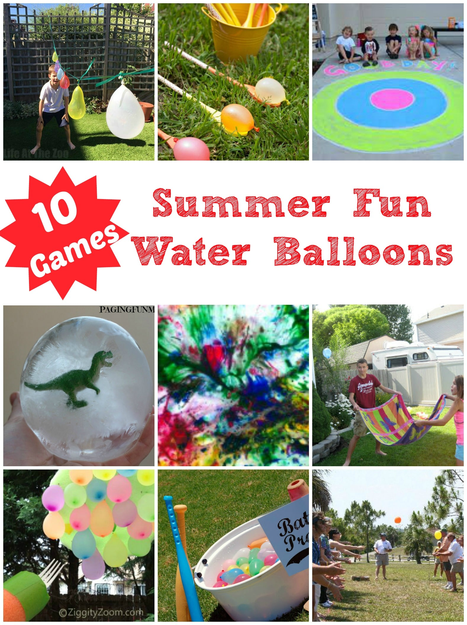 10 Super Fun Water Balloon Games - this is what SUMMER FUN is all about. The kids will have a blast and cool down at the same time!