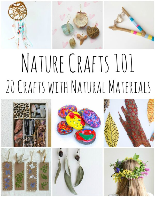 20 Nature Craft Ideas - this is your GUIDE to crafting with Nature, make this your first port of call when hunting out Nature Crafts 101