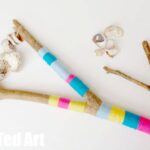 Nature Crafts – Beach Drift Wood & Broken Shell Rattles