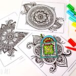 Colouring Pages for Grown Ups – Meaningful Mandalas
