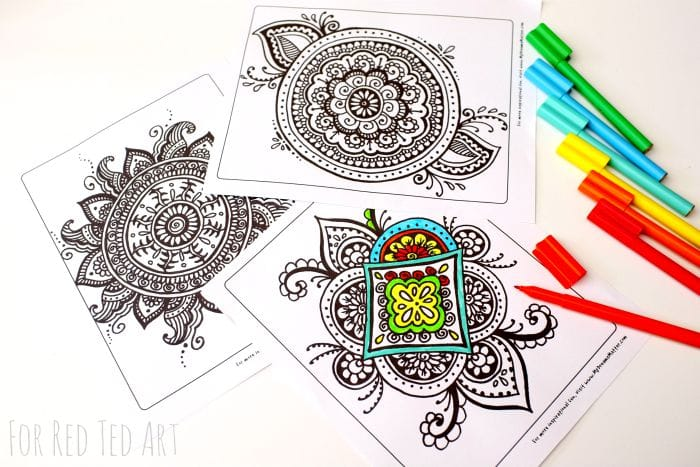 Colouring Pages For Grown Ups Meaningful Mandalas Red Ted Art Make Crafting With Kids Easy Fun