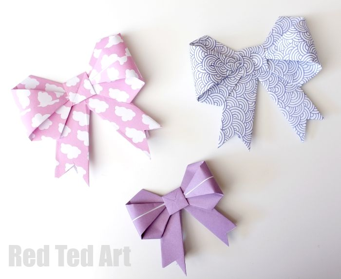 Origami Paper Bows Gorgeous Gift Wrap Idea Red Ted Arts Blog