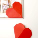 Easy Kirigami Heart Corner Bookmarks. How to make a corner bookmark without glue