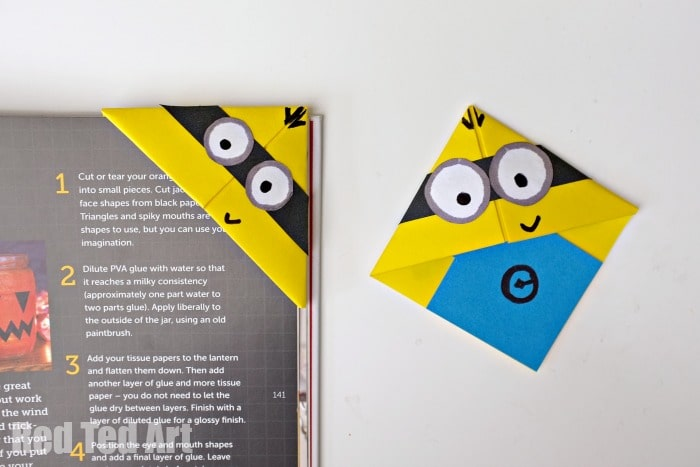 Minion Crafts – Corner Bookmarks