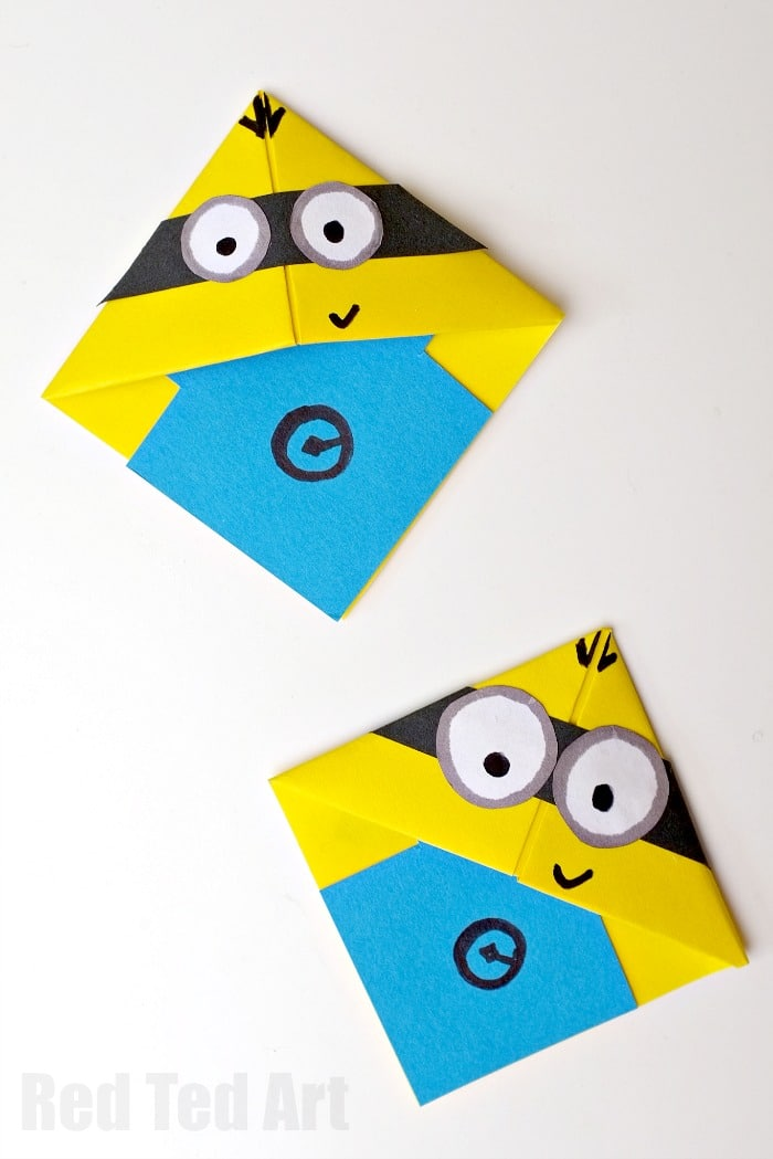 Easy amp Fun To Make Minion Bookmarks Use Basic Origami