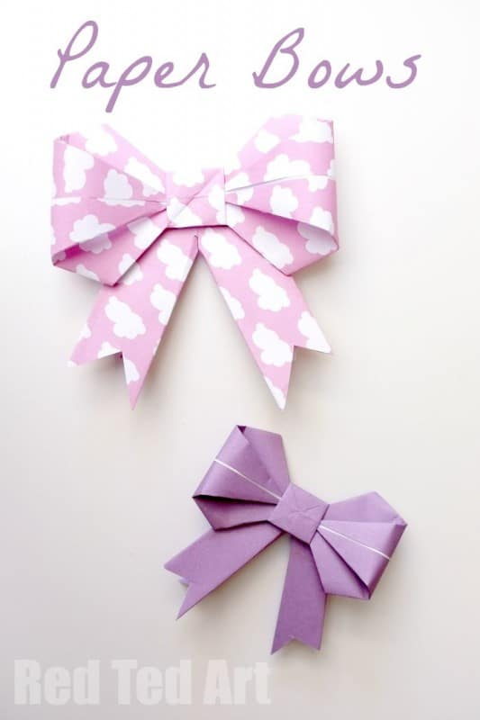 Gorgeous Paper Bows, these look so lovely on brown paper parcels. Learn how to make them today.